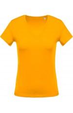 T-Shirt Col V Manches Courtes Femme Personnalisable