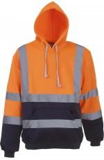 Sweatshirt Capuche Haute Visibilité à Personnaliser