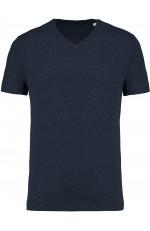 T-shirt coton bio col V homme personnalisable