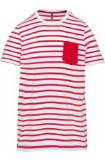 T-shirt rayé marin avec poche pour enfant personnalisable