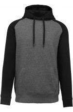 Sweat-shirt capuche bicolore adulte personnalisable