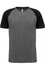 T-shirt bicolore sport à manches courtes pour adulte personnalisable