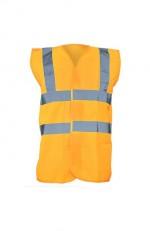Gilet de sécurité orange personnalisé