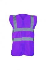 Gilet de sécurité violet personnalisable
