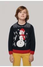 Pull de Noël motif enfant à personnaliser