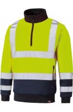 Sweat haute visibilité col camionneur personnalisable
