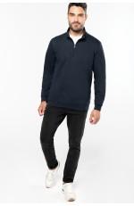 Sweat-shirt col zippé à personnaliser