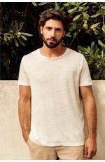 T-shirt en lin manches courtes à personnaliser