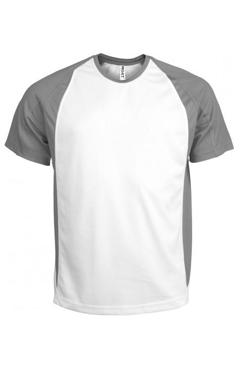 tee shirt sport bicolore personnaliser personnalisation sur t shirt et textile. Black Bedroom Furniture Sets. Home Design Ideas