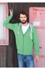 Sweatshirt Capuche Homme Zippé Kariban Vintage à Personnaliser