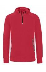 Sweatshirt capuche 1/4 Zip Sport Personnalisable