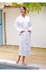 Peignoir Kimono Nid d'Abeille Unisexe Personnalisable