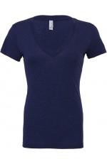 T-Shirt Femme Col V Triblend Personnalisable