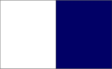 Blanc / bleu marine