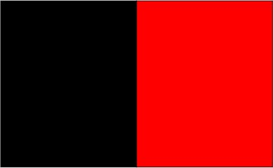 Noir / rouge flamme