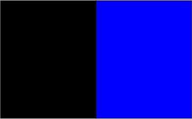 Noir / bleu métylène