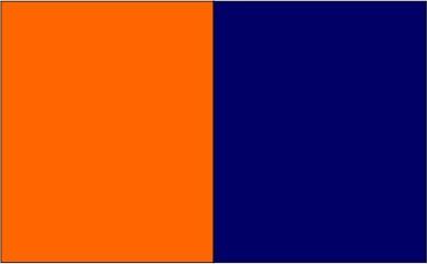 Orange / bleu marine