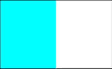 Bleu azur / blanc