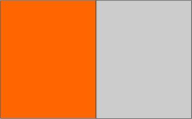 Orange / gris léger