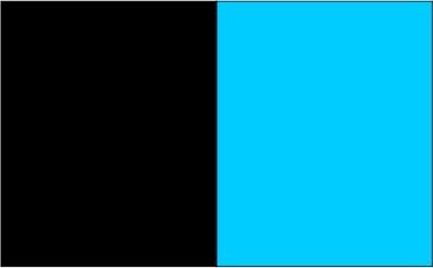 Noir / aqua