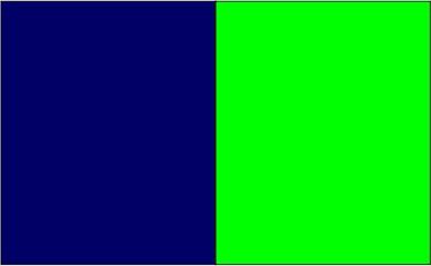 Bleu marine / vert pomme