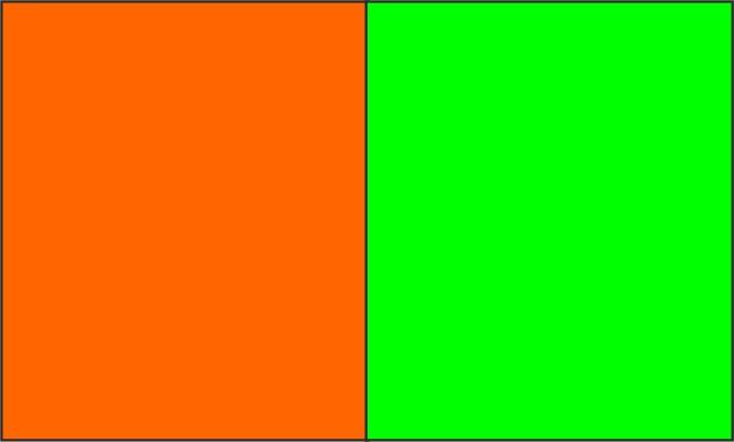 Orange fluo / vert