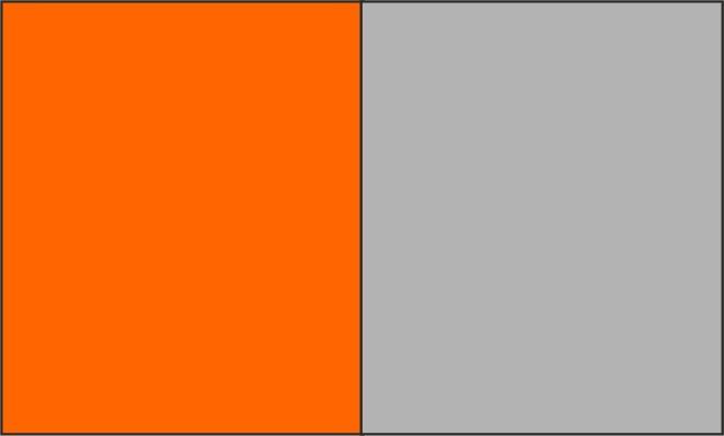 Orange fluo / gris