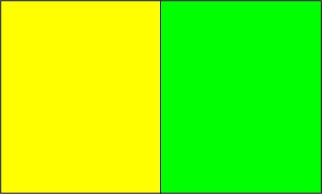Jaune fluo / vert