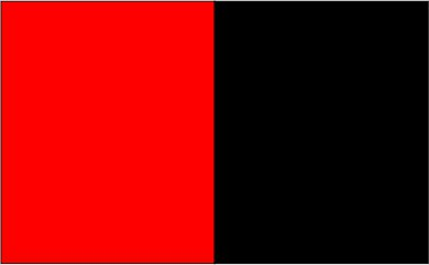 Rouge fluo / noir