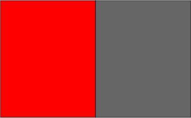 Rouge fluo / gris