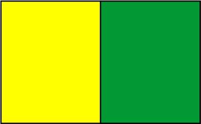 Tournesol / vert kelly