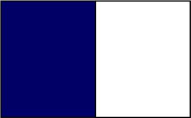 Bleu foncé / blanc