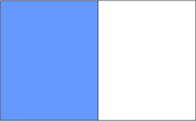 Bleu ciel / blanc