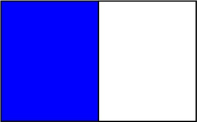 Bleu royal / blanc