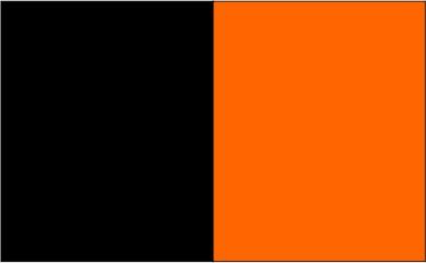 Noir / orange fluo