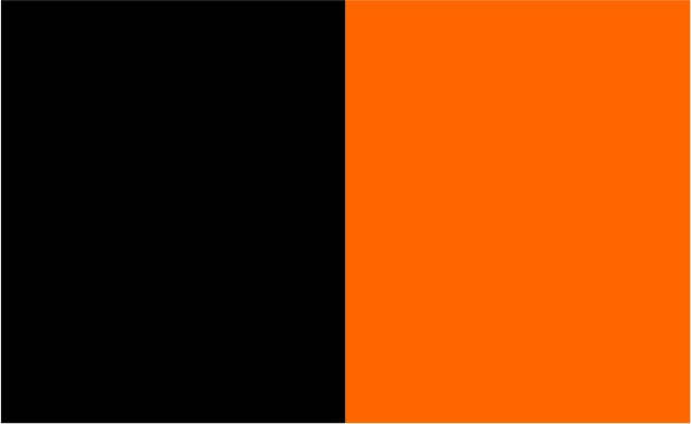 Noir / orange