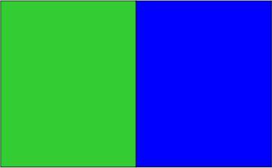 Vert lime / bleu royal