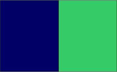 Bleu marine / vert lime