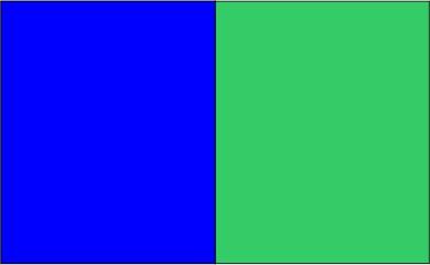 Bleu royal / vert lime